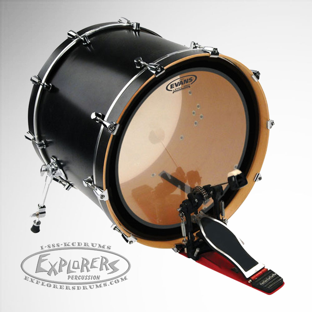 evans emad clear single ply batter bass drum head. Black Bedroom Furniture Sets. Home Design Ideas