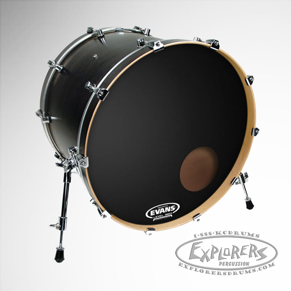 evans eq3 resonant onyx frosted single ply bass drum head. Black Bedroom Furniture Sets. Home Design Ideas