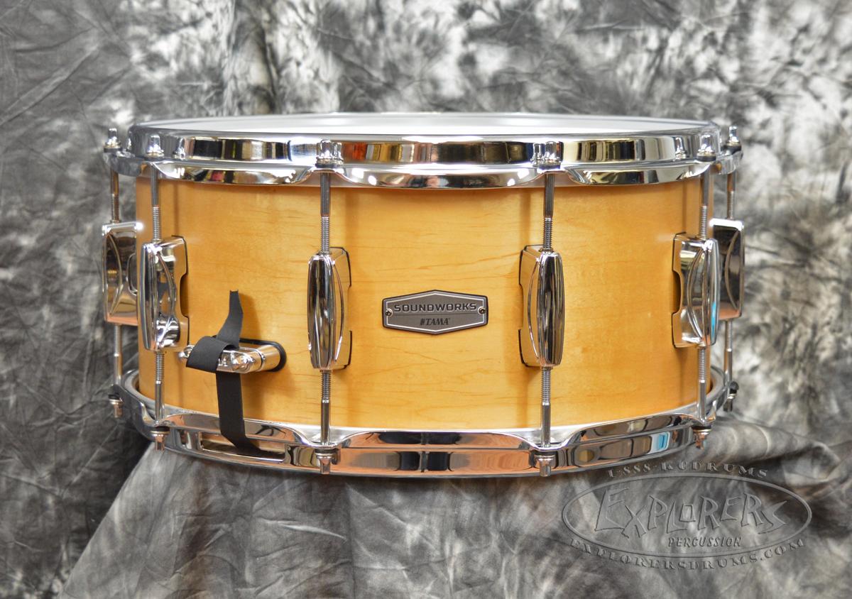 Tama soundworks series vintage maple 6 5 x 14 snare drum for Zenhiser classic house drum sounds