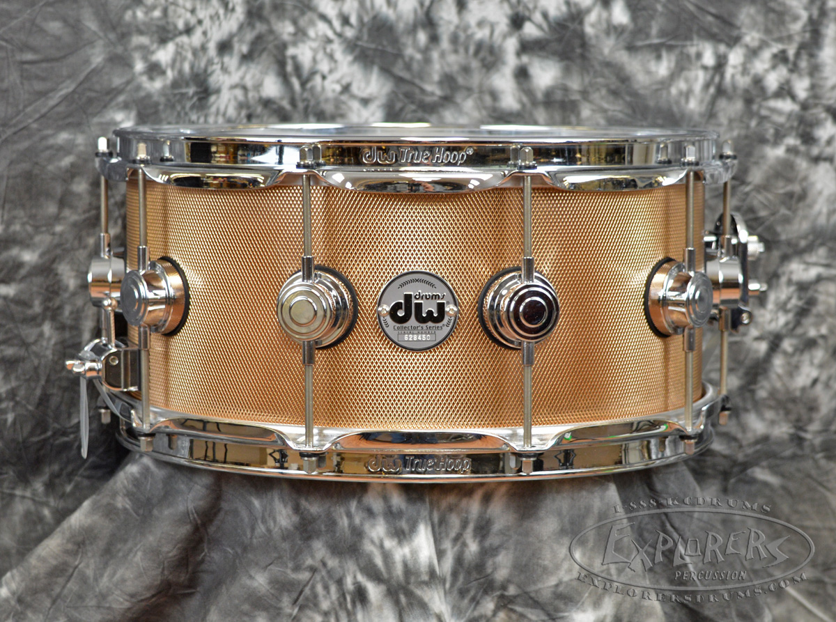 Dw Collector S Series 6 5 X 14 Knurled Bronze Snare Drum