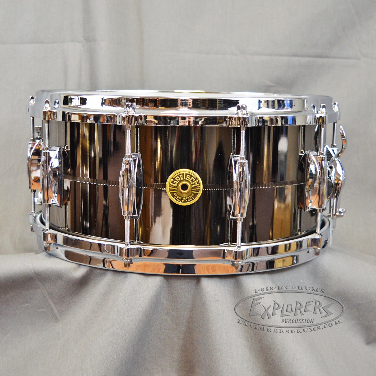 gretsch snare drum usa solid steel shell. Black Bedroom Furniture Sets. Home Design Ideas