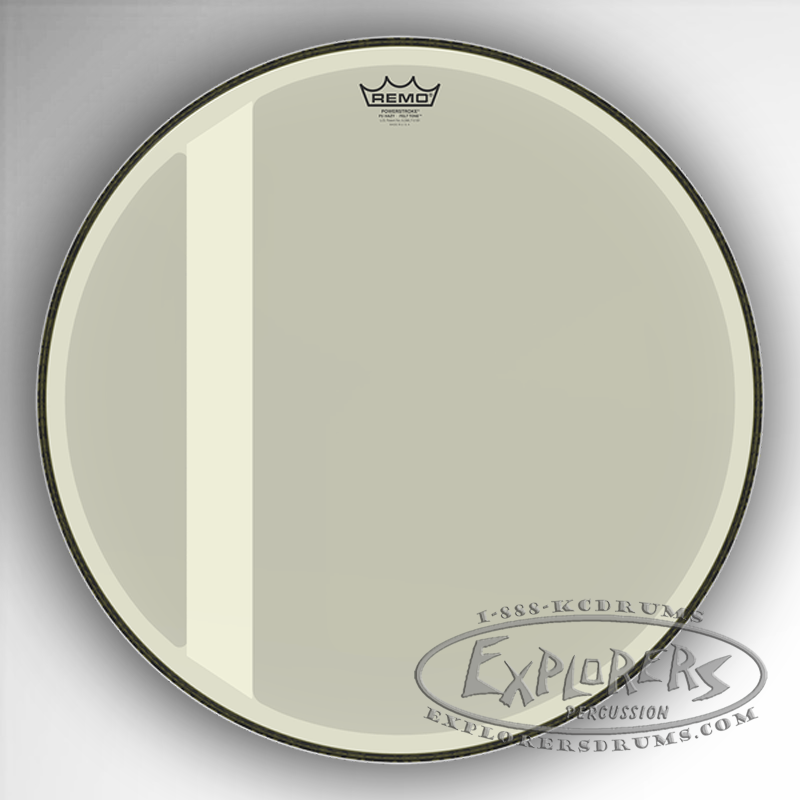remo powerstroke p3 felt tone hazy bass drum head. Black Bedroom Furniture Sets. Home Design Ideas