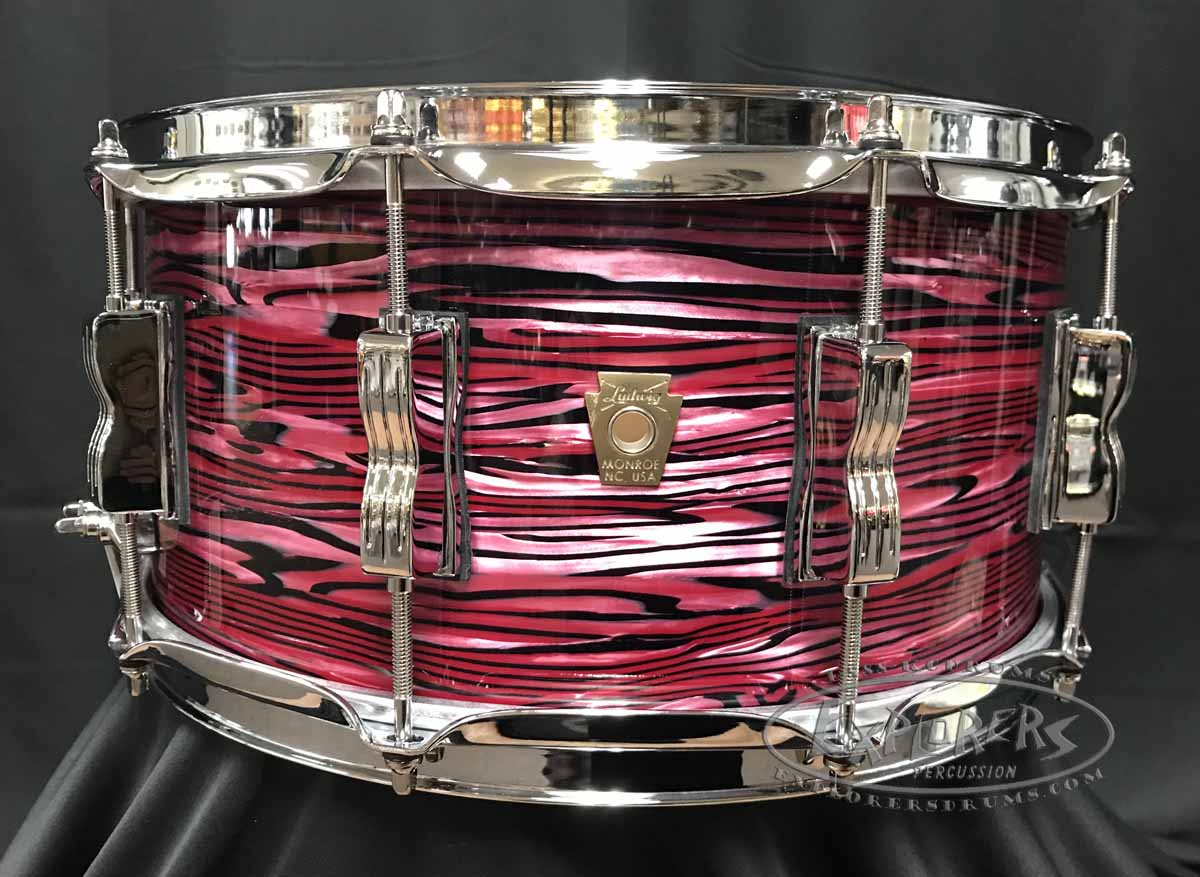 Ludwig Snare Drum 6.5x14 Classic Maple 7 Ply Shell in Ruby Strata