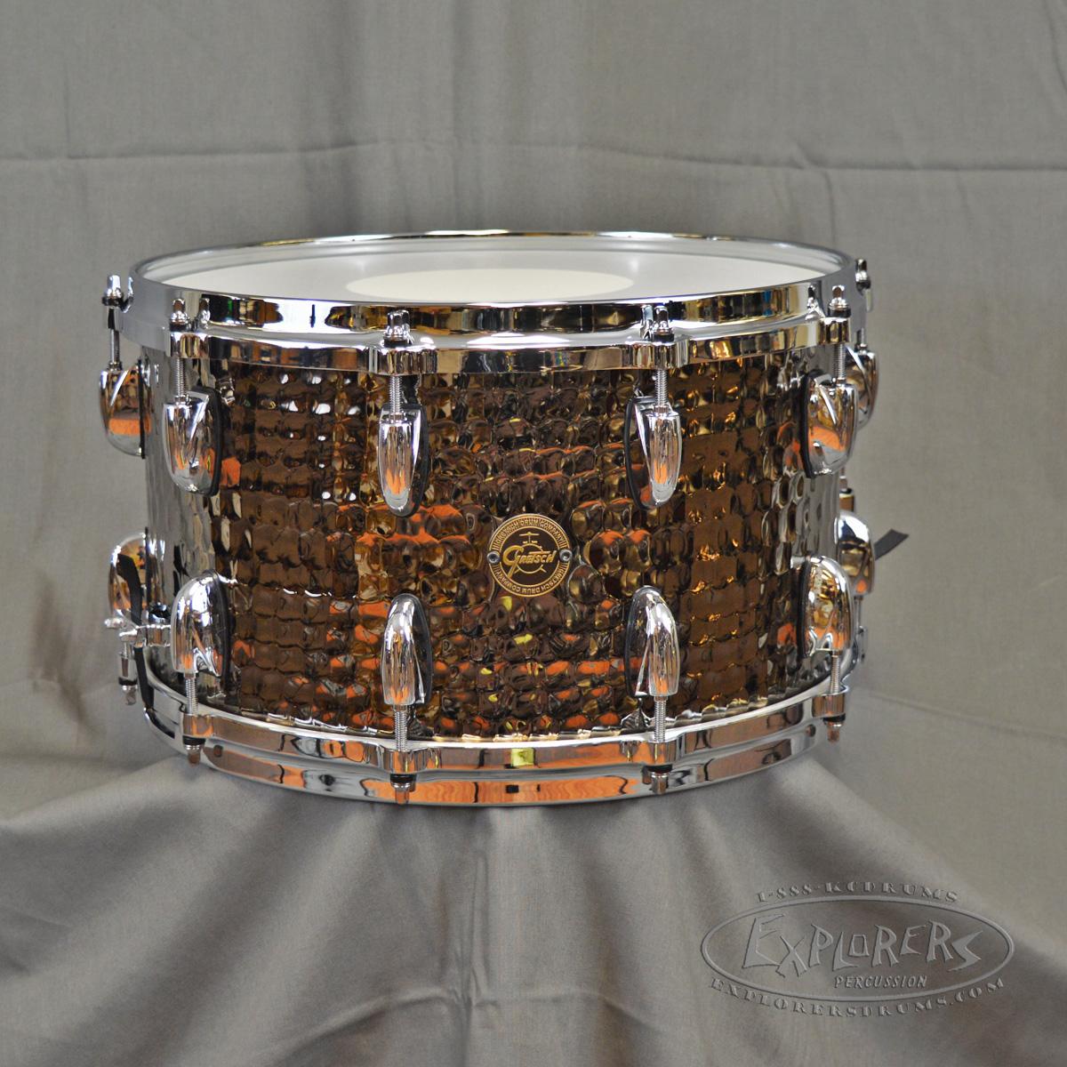 gretsch 8x14 hammered black steel snare drum. Black Bedroom Furniture Sets. Home Design Ideas