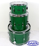 C&C Drum Set Player Date 2 Green Sparkle (No Snare)