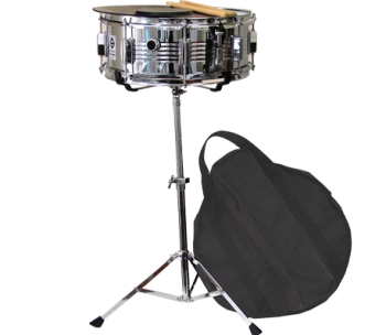 Coda student snare drum kit for Yamaha student bell kit with backpack and rolling cart