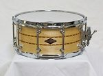 Craviotto Custom Snare Drum Solid Shell 6.5x14 Maple w/ Double Cherry Inlay