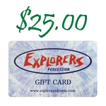 Explorers Percussion $25 Gift Card