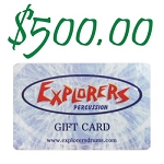 Explorers Percussion $500 Gift Card
