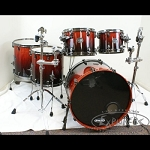 Mapex Saturn V MH Exotic Shell Pack Drum Set - Cherry Mist Rosewood Burl