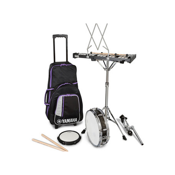 Yamaha student bell and snare drum combo kit with rolling case for Yamaha student bell kit with backpack and rolling cart