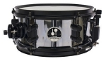 Sonor Snare Drum Black Mamba 10x5 Snare Drum SDSTA27B1 Chrome over Steel NEW