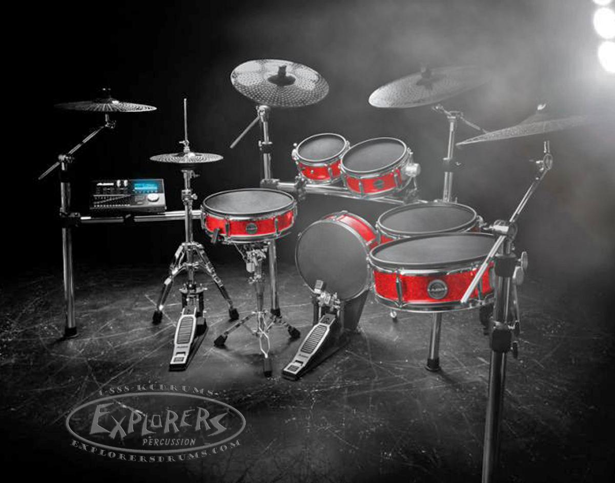 alesis strike pro series 11 piece electronic drum set with module. Black Bedroom Furniture Sets. Home Design Ideas