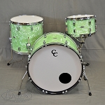 C&C Custom Drum Set Player Date 2 Shell Pack 24,13,16 in Mint Marine Pearl Finish - Cancelled Order Special