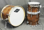 Craviotto Drum Set Custom Shop 3 Piece Solid Walnut w/ Walnut Inlay Diamond Tube Lugs