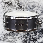 Craviotto Solitaire Series 5.5x14 Snare Drum in Pewter Finish