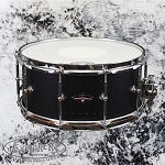 Craviotto Solitaire Series 6.5x14 Snare Drum in Matte Black Finish