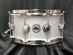 Used DW Snare Drum Collector's Series 6.5x14 1mm Thin Aluminum Shell w/ Chrome Hardware