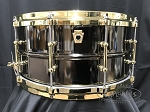 Ludwig Snare Drum USA 6.5x14 Smooth Shell Black Beauty w/ Tube Lugs & Brass Hardware - B Stock