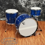 C&C Drum Set Player Date 2 3 Piece Shell Pack in Blue Sparkle Finish
