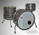 C&C Player Date 2 Shell Pack in Black Tie Butcher Block Finish with Double Lugs