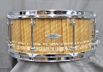 C&C Custom Snare Drum 6.5x14 Maple Gum w/ Black Limba and Paua Abalone
