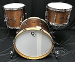 C&C Custom Drum Set Player Date 1 3 Piece 7 Ply Mahogany - Brown Mahogany Satin Stain