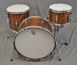 C&C Drum Set Player Date 1 7 Ply Mahogany 3 Piece Shell Pack - Walnut Satin Finish