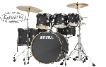 Tama Superstar Classic Maple 7 piece Limited Edition Shell Pack Galaxy Matte Black w/ Black Nickel Hardware