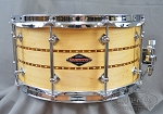 Craviotto Custom Snare Drum Solid Shell 7 x 14 Maple w/ Double Walnut Inlays