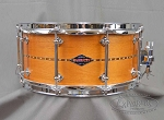 Craviotto Custom Snare Drum Solid Shell 6.5x14 Mahogany w/ Walnut Inlay BB/BB Bearing Edge
