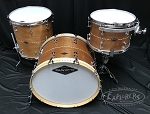 Craviotto Custom Shop Drum Set 3 Piece Solid Mahogany w/ Maple Inlay & BB Edges - 13, 16, 22