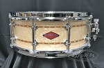 Craviotto Custom Snare Drum 5.5x14 Private Reserve Birds Eye Maple Solid Shell w/ Double Cherry Inlay