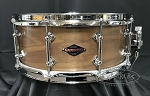 Craviotto Custom Snare Drum 5.5x14 Steam Bent Solid Walnut Shell