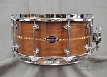 Craviotto Custom Snare Drum Solid Shell 6.5x14 Walnut w/ Walnut Inlay 45/45 Bearing Edge