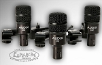 Audix D2 Trio Tom Microphone Set with DVICE Mic Mounts