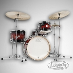 DW Drum Set Design Series 4 Piece Frequent Flyer Jazz Sized Drum Set in Tobacco Burst