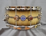 DW Snare Drum Collector's Series 6.5x14 45th Anniversary Exotic Stradivarius - Nickel Hardware w/ Bag #29 of 145