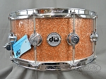 DW Snare Drum Collectors Series 6.5x14 Maple / Mahogany with Chrome Hardware - Champ Glass