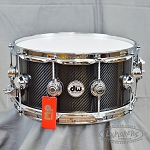 DW Collector's Series 6.5x14 Carbon Fiber Snare Drum w/ Chrome Hardware
