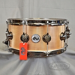 DW Collector Series 6.5x14 Knurled Bronze Snare Drum w/ Black Nickel Hardware