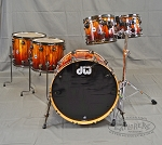 DW Collector's Series Exotic African Chechen with Red Fade & Black Hardware