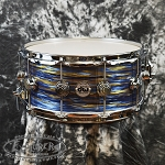 DW Collector's Series Cherry Mahogany 6.5 x 14 Snare Drum in Peacock Oyster Finish Ply