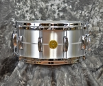 Gretsch Solid Aluminum 6.5 x 14 Snare Drum with 10 Lugs and Lightning Throw-Off