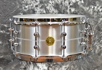 Gretsch Solid Aluminum USA Custom 6.5 x 14 Snare Drum with Tube Lugs, Double Flanged Hoops and Lightning Throw-Off
