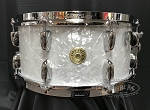 Gretsch Snare Drum USA Broadkaster 6.5x14 Maple/Mahogany/Maple Shell in White Marine Pearl