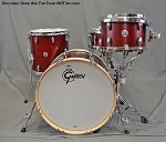 Gretsch Drum Set Brooklyn Series 4 piece w/ Chrome Hardware - Satin Cherry Red