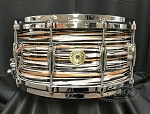 Gretsch Snare Drum USA Custom 6.5x14 Maple/Gum Shell - Black Orange Oyster Nitron