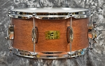 Pork Pie Hip Pig 6.5 x 14 Natural Mahogany Snare Drum