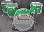 Ludwig Drum Set 45th Anniversary Vistalite 4 Piece Acrylic Shell Pack - Green Sparkle Finish